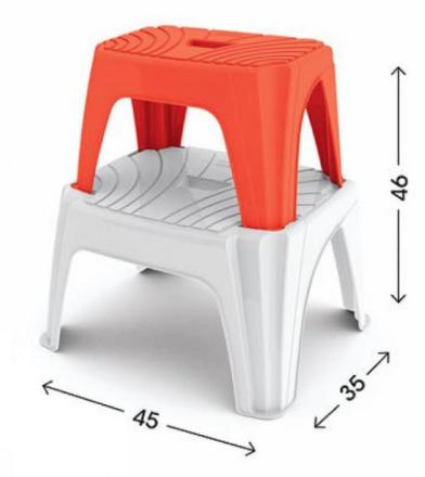 Plastová stolička Step