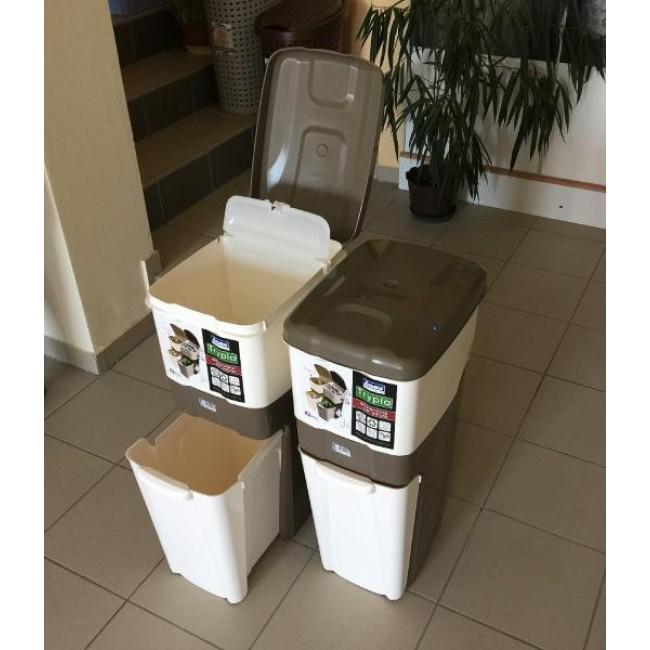 Odpadkový koš Trypla dvoukomorový