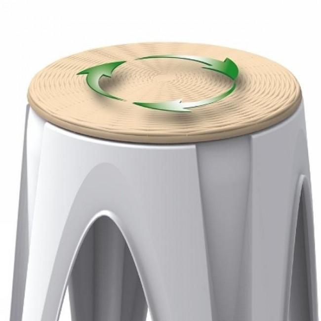 Plastová stolička Rotondo, otočné sedátko