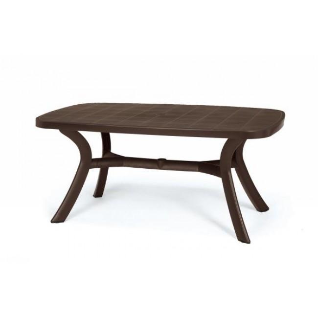Plastový zahradní stůl Toscana ovál caffe 165 cm