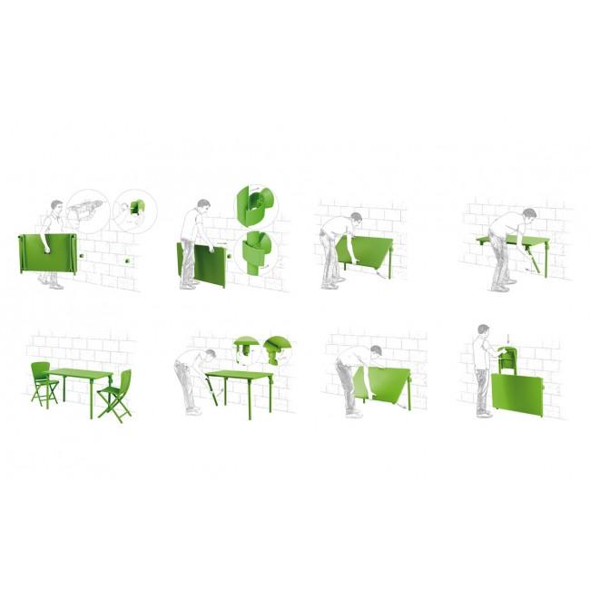 Plastový skládací stůl Zic