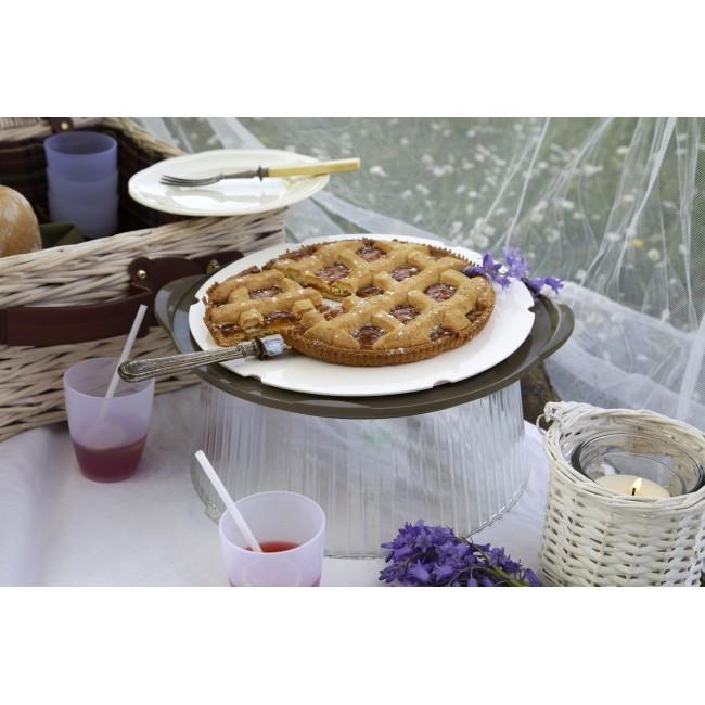 Otočný sevírovací talíř s poklopem