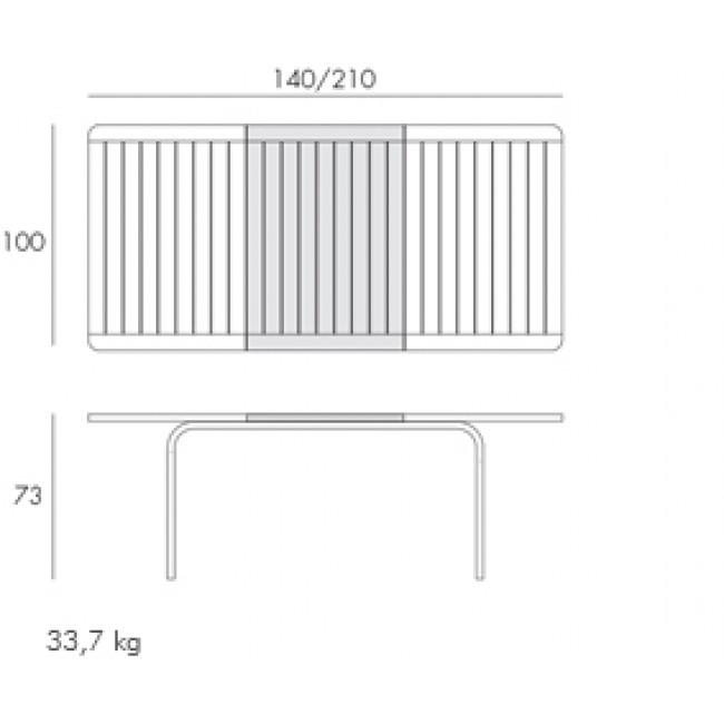 Stůl Alloro 140-210 extensible