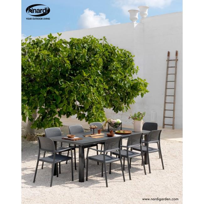 Zahradní sestava židle Bora a stůl Levante antracit