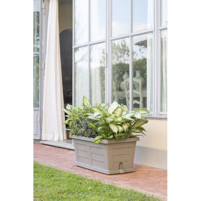 Zahradní truhlík Legno šedý
