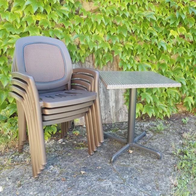 Židle Beta Caffe a stůl Fiore