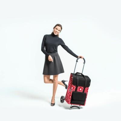 Nákupní taška na kolečkách kovová kostra