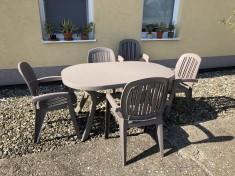 Plastový zahradní Stůl Toscana ovál tortora 145 cm