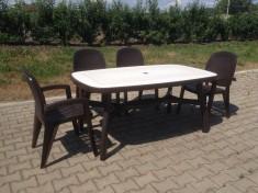 Zahradní sestava Creta a stůl oválný s dekorací