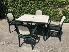 Zahradní sestava Beta a stůl obdélníkový Toscana