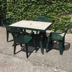 Zahradní sestava židle Luna a stůl Toscana120x80
