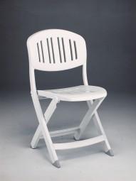 Skládací židle Capri bílá